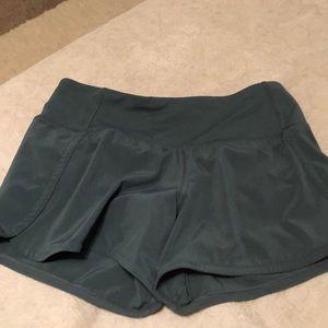 "Lululemon speed up shorts 4"" tall"